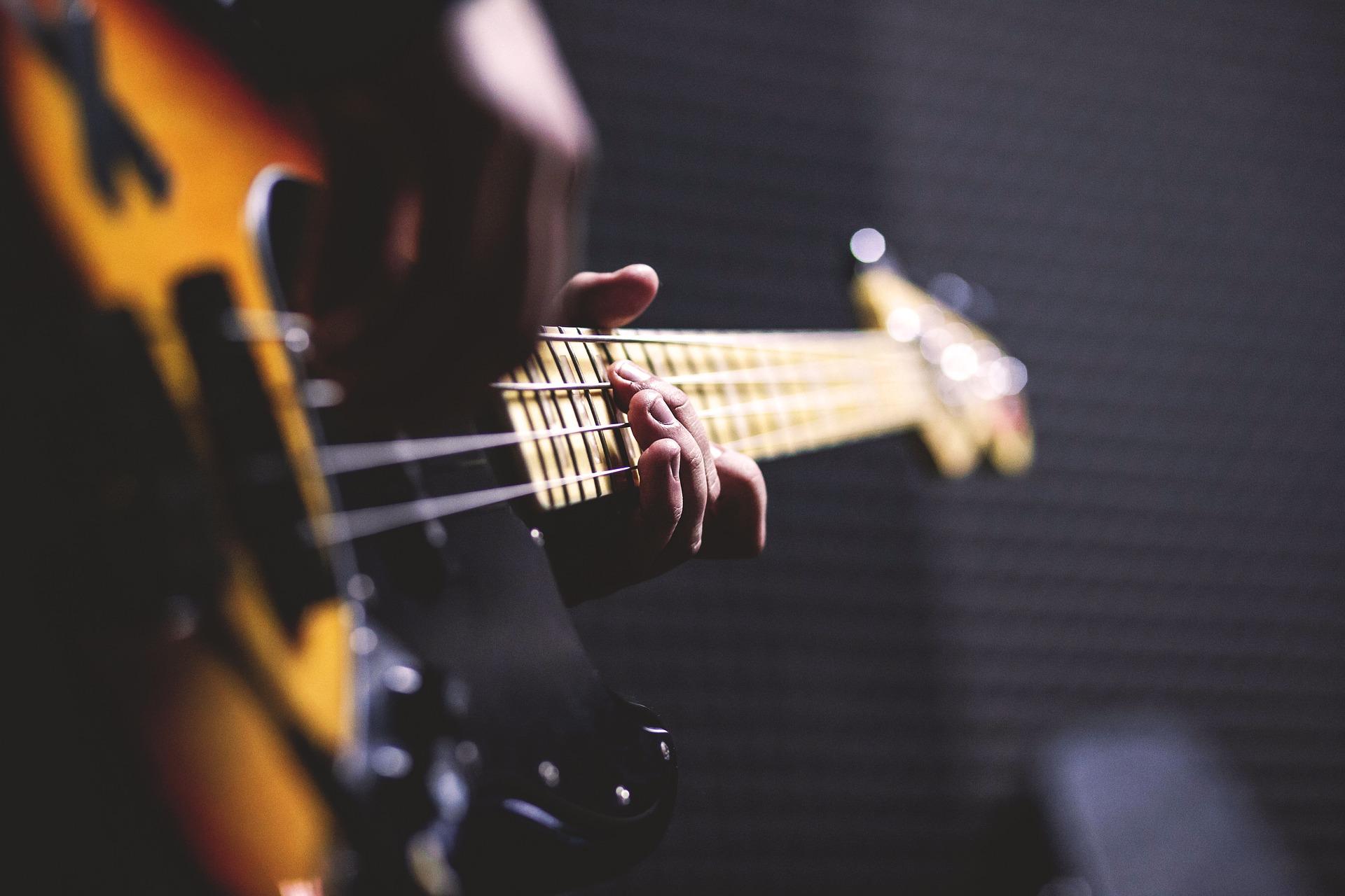 Man Playing Bass Barrett School of Music Tampa