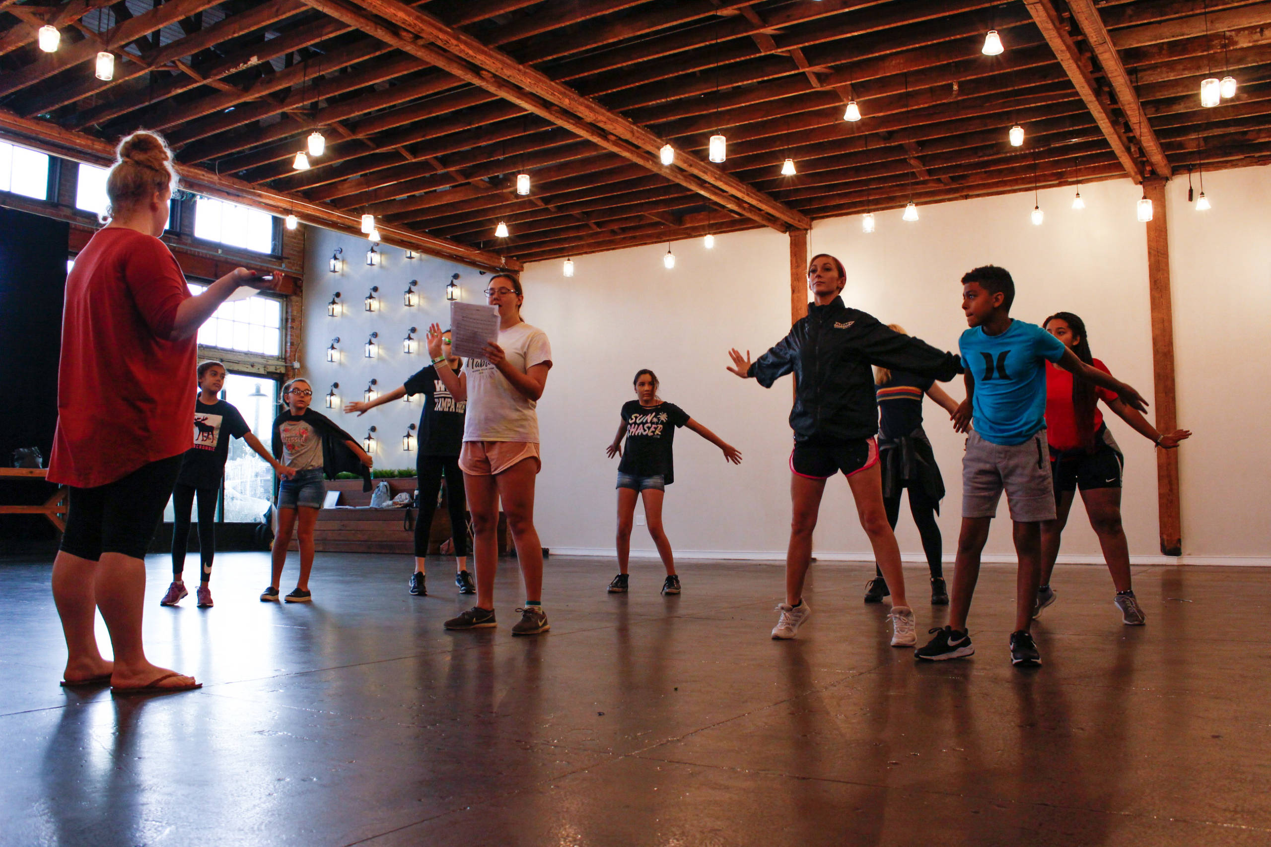 students dancing at a 2020 music summer camp in Tampa
