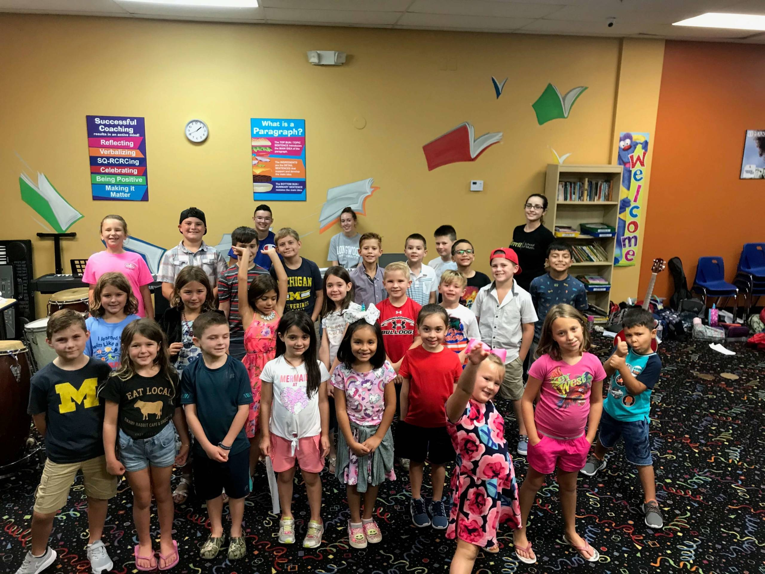 happy kids from a 2020 music summer camp in Brandon