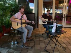 our dueling guitars team performing live music in Tampa